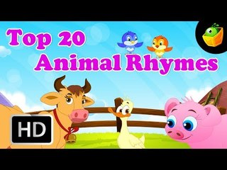 Top 20 Animal Nursery Rhymes | 20+ Mins | Compilation of Cartoon/Animated Songs For Kids