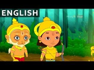 Arjun And Hanuman - Hanuman In English - Animation / Cartoon Stories For Kids
