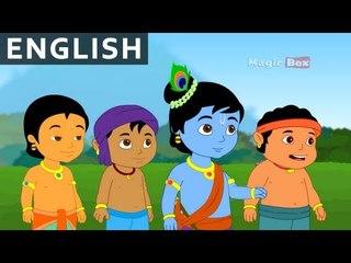 Krishna And Bakasur - Krishna vs Demons In English - Animated / Cartoon Stories For Kids