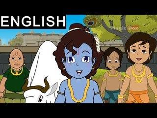 Krishna And Govardhan - Sri Krishna In English - Animated/Cartoon Stories For Kids