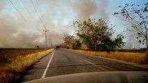Traverser un incendie en voiture