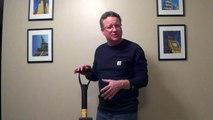 Snow Shovel for Heavy Wet Snow - Ergonomic Snow Shovel