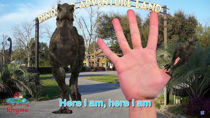 3D мультфильм для детей, семейка динозавров пять пальцев