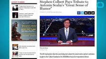 """Stephen Colbert Pays Tribute to Late Justice Scalia's """"Great Sense of Humor"""""""