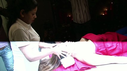 Rakhi Sawant Erotic Massage   Adjusting Her Top Leaked