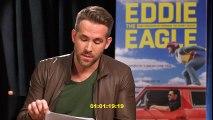 Deadpool Interviews Hugh Jackman for EDDIE THE EAGLE (2016) Ryan Reynolds, Hugh