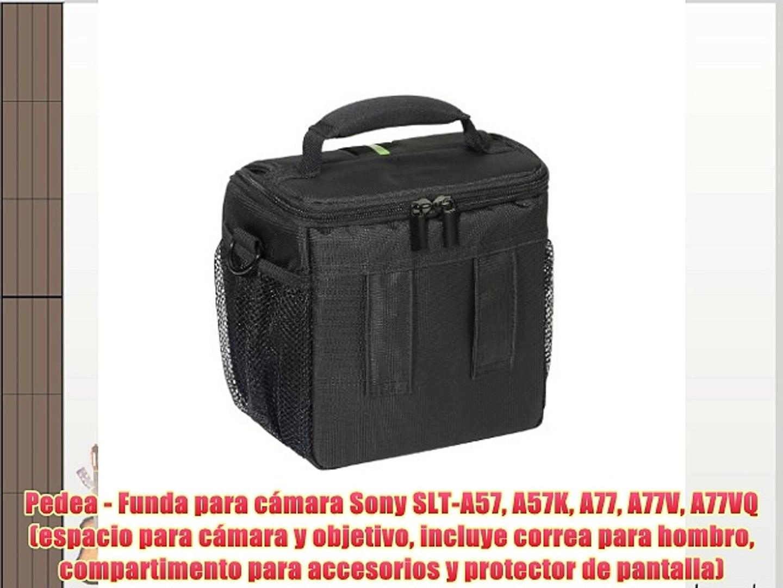 Pedea - Funda para cámara Sony SLT-A57 A57K A77 A77V A77VQ (espacio para cámara y objetivo