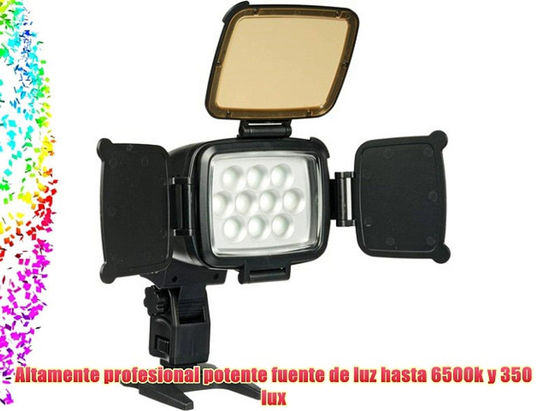 Polaroid iluminación profesional de alta potencia con 10 LED para cámaras de vídeo cámaras