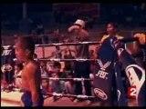 Combats de boxe thaie d'enfants