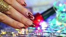 Tuto nail art spécial Noël : double noeud One Stroke et french manucure
