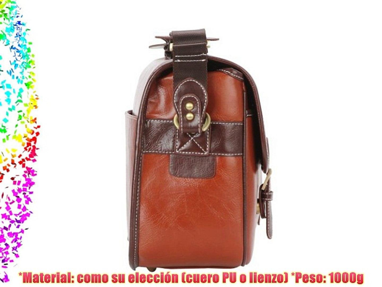 Lalawow Bolsos de Cámara Estilo Vintage Portable DSLR Video Cámara caso bolsa Messenger Con