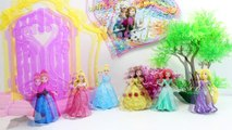 Play Doh DohVinci Sparkle Dresses Disney Princess Magiclip Dolls Make Doll Dresses Playdoh Glitter