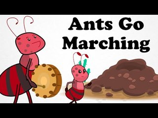 Ants Go Marching One By One | Cartoon Kids English Nursery Rhymes | HD Animated Songs For Children