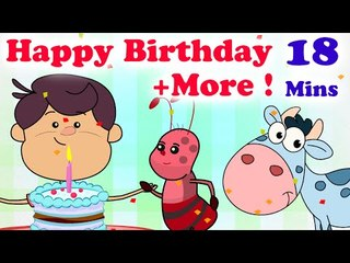 Happy Birthday and More Classic Kids Nursery Rhymes| 18 Mins | HD Songs For Children