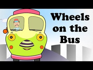 Wheels on the Bus Go Round | Animated Engilsh Kids Nursery Rhymes | Cartoon Songs in HD For Children