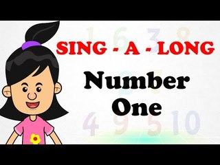 Number One | Sing a long | Animated English Songs | Cartoon Nursery Rhymes For Children