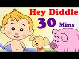 English Nursery Rhymes For Kids - Hey Diddle Diddle | Lots More Nursery Rhymes For Kids | 30 Mins | HD Songs