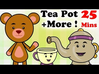 I'm a Little Teapot | 5 Little Monkey | And LOTS of Nursery Rhymes | 25 Minutes Compilation