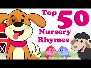 Top 50 English Nursery Rhymes |  1 Hour ! | 2D Animation in HD | Compilation Songs For Children