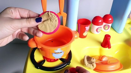 Peppa Pig Mini Kitchen Peppa Pig Cooking Playset Cocinita Peppa Pig Play Doh Food Toy Videos