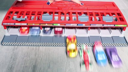 CARS 2 World Grand Prix Race Launcher 10 Cars Launcher Hot Wheels Toys カーズ2 トイズ Cars 2 Spielzeug