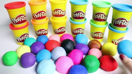 Play Doh Surprise Eggs Peppa Pig Frozen Mickey Mouse Spiderman Minnie Masha Disney Huevos Sorpresa
