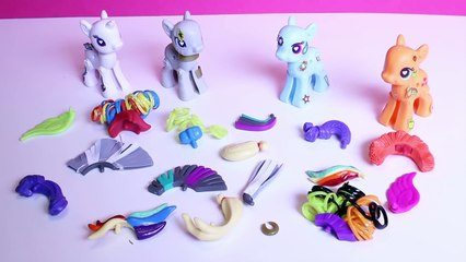 Play Doh My Little Pony Rainbow Dash Zecora Applejack MLP My Little Pony POP Toy Videos
