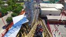 Switchback Wooden Shuttle Roller Coaster REAL POV 60FPS ZDTs Amusement Park Texas