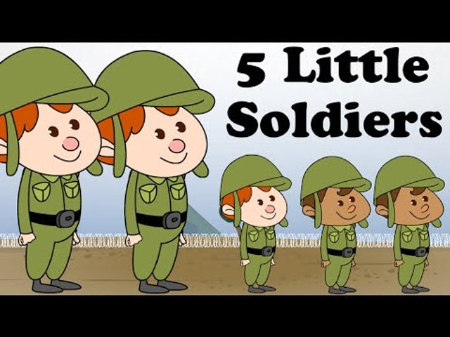 Five Little Soldiers | Cartoon Nursery Rhymes Songs For Children