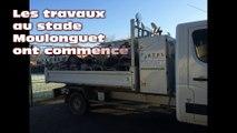 Amiens: travaux au stade Moulonguet