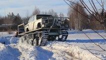 ロシアらしさ全開!雪道に絶対に負けない改造車