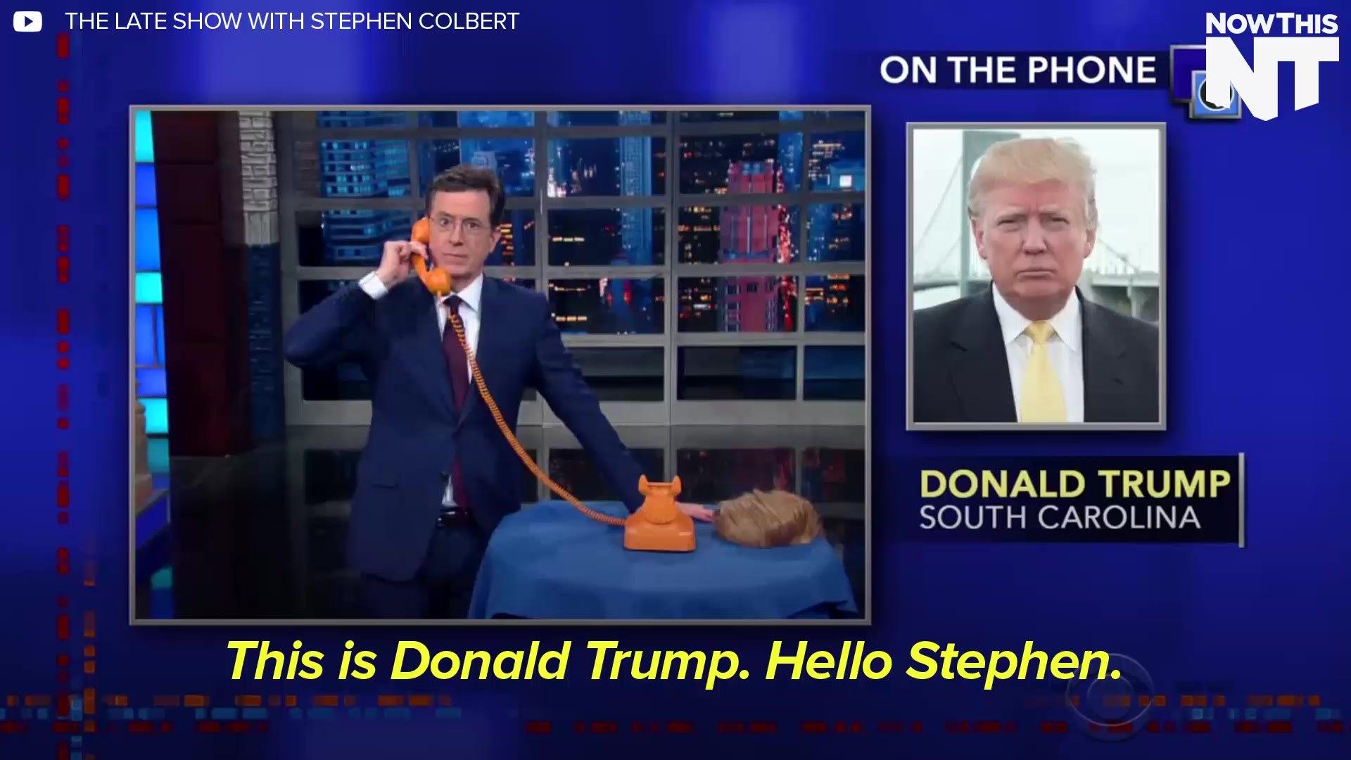 Trump Calls Stephen Colbert On The 'Trump Phone'