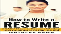 Resume  How to Write a RESUME   5 EASY Steps to Resume Writing That SELLS  Resume  Resume Writing