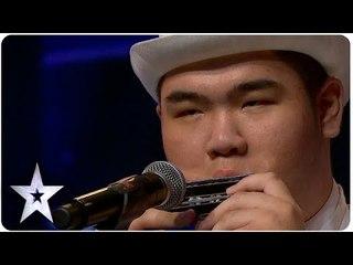 Oscar Chu Plays 8 Harmonicas | Asia's Got Talent 2015 Ep 2
