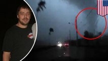 Road rage: Irate man yells at cars unaware of approaching tornado