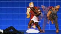 MUGEN WORLD,Orochi Iori and Kio KOF vs Evil Ryu and Ken Street fighter