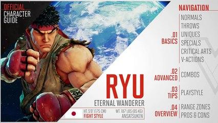 Guide officiel Ryu de Street Fighter V