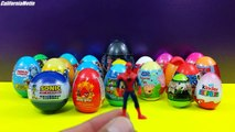 Many Surprise Eggs One Direction Sonic SpongeBob Cars Spiderman Angry Birds Kinder Surprise