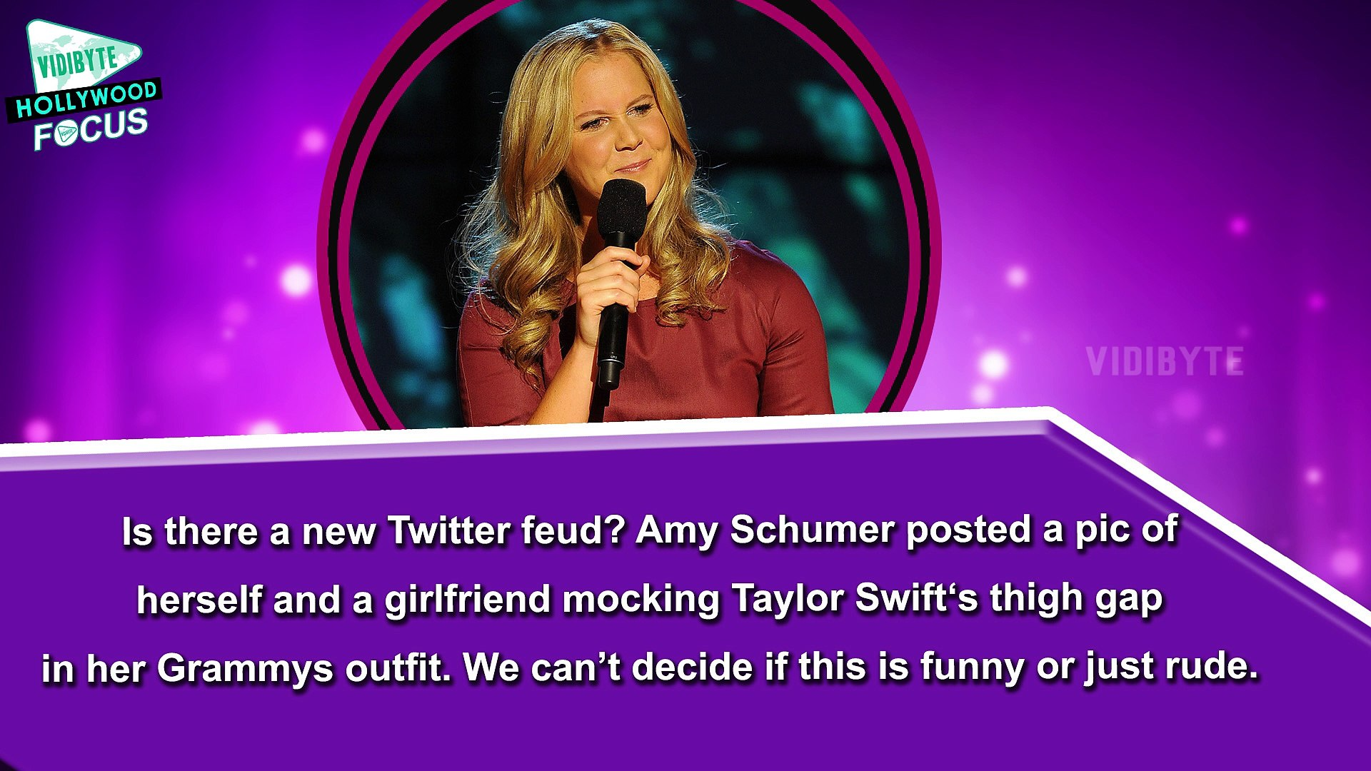 Amy Schumer Disses Taylor Swift's Thigh Gap With Scathing Instagram