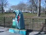 NYC Street Performers - Statue of Liberty & Human Statues at Battery Park NYC