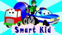 Fire trucks for children. Fire trucks responding. Construction game. Robots. Cartoons