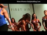 Women BodyBuilding Flexing Muscles Arnold Classic