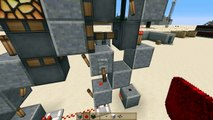 Minecraft tutorials: T Flip Flop for 3x3 piston door.