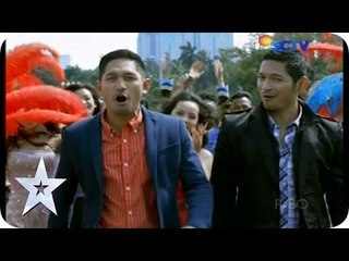 EXCLUSIVE! Evan Sanders and Ibnu Jamil on Flashmob - Audition 1 - Indonesia's Got Talent