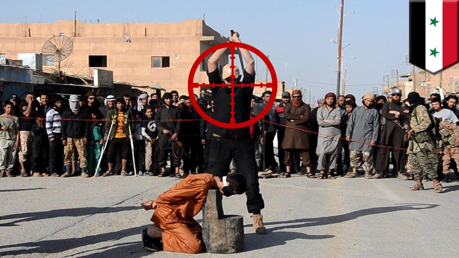 Penembak SAS menembak kepala eksekusi ISIS