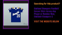 Oakland Stompers Football Soccer Shirt Jersey Any Player or Number New, Oakland-Stompers-2