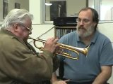 Maynard Ferguson trying out new trumpet