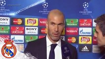 Entrevista Zinedine Zidane Roma 0-2 Real Madrid Champions League match 2016  - FOOTBALL MANIA