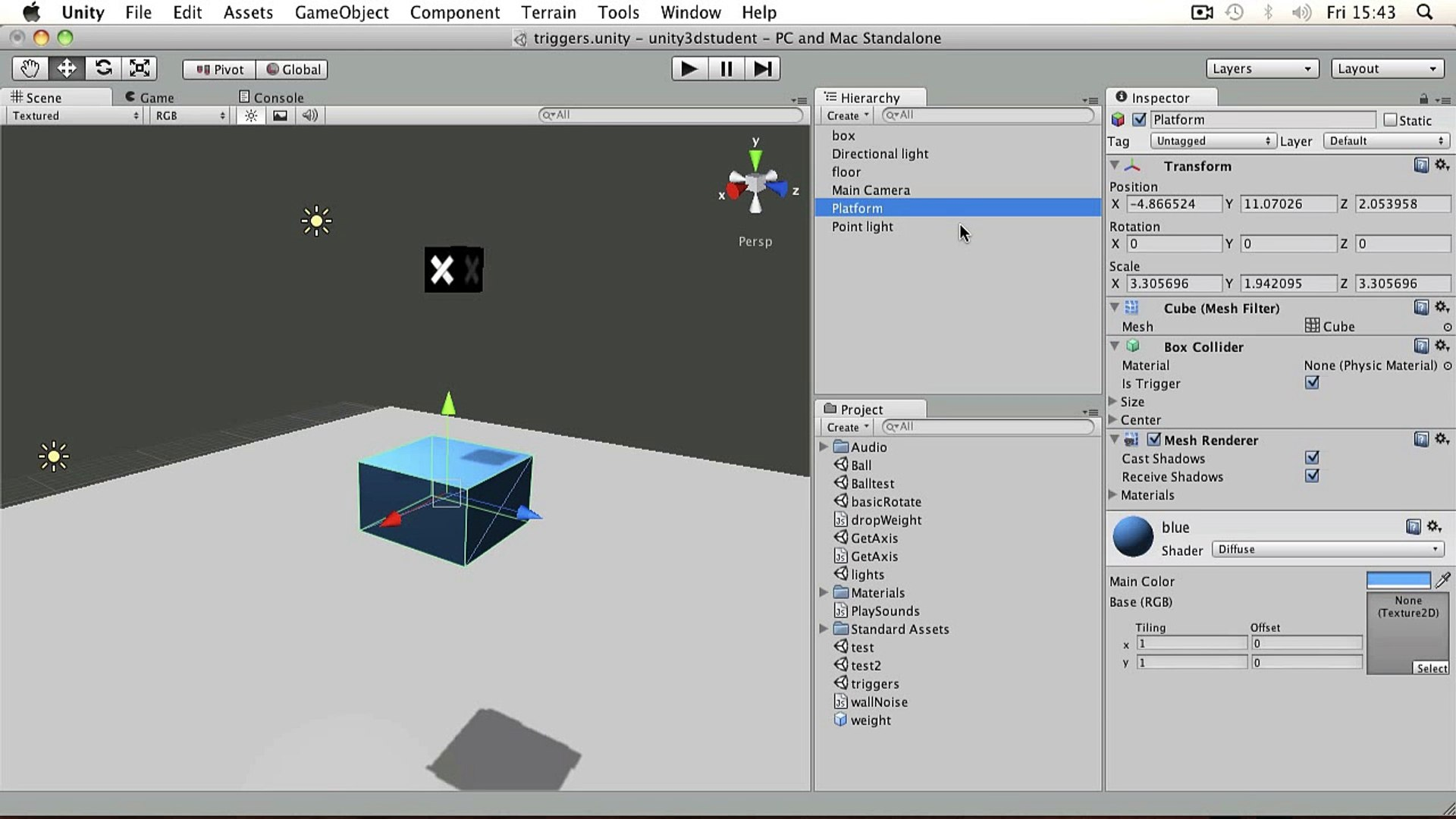 Unity3D - Beginner 13 - Triggers