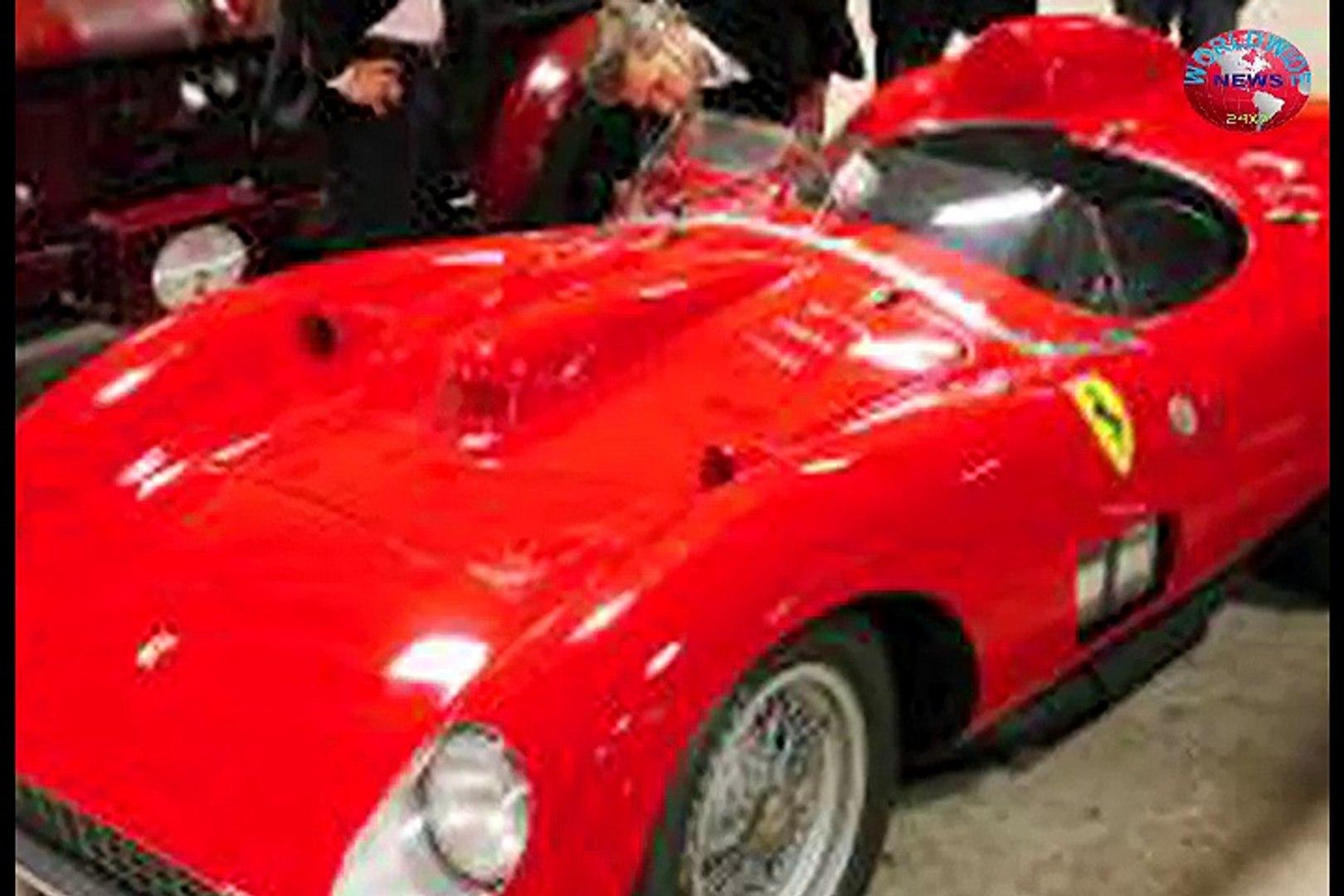1957 Ferrari 335 S Spider Scaglietti Auctioned For Record 32 Million Euros Video Dailymotion